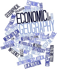 Word cloud for Economic geography