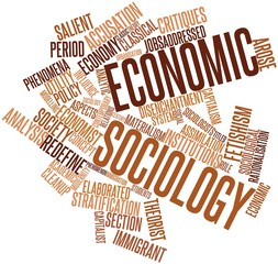 Word cloud for Economic sociology