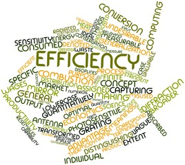 Word cloud for Efficiency