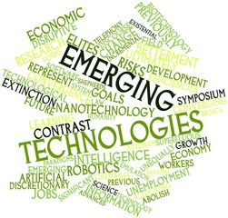 Word cloud for Emerging technologies