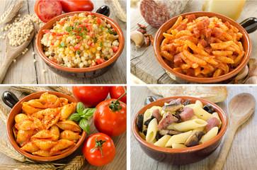 Varietà di pasta italiana, variety of italian pasta