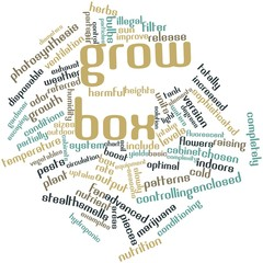 Word cloud for Grow box