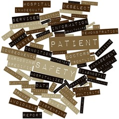 Word cloud for Patient safety