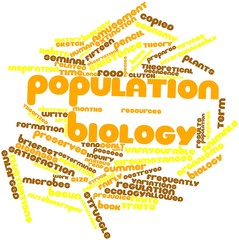 Word cloud for Population biology