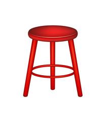 Retro wooden stool