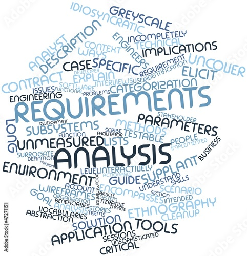 Word Cloud For Requirements Analysis Stock Photo And RoyaltyFree