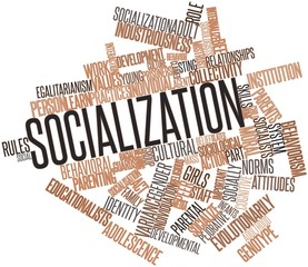 Word cloud for Socialization