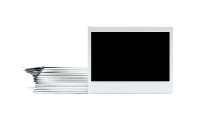instant photo  isolated on the white background