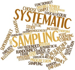 Word cloud for Systematic sampling