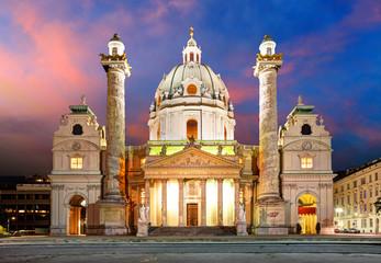 Keuken foto achterwand Wenen Vienna - Karlsplatz - St. Charles's Church - Austria
