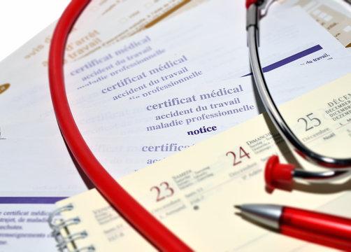 consultation pour arrêt maladie ou accident de travail