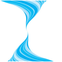 Blue wave background. vector blue cover design