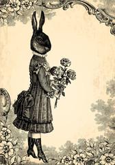Wall Mural - L'enfant lapin