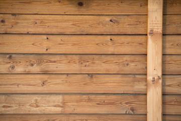 Fond de hotte en verre imprimé Port parete di legno