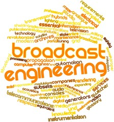 Word cloud for Broadcast engineering