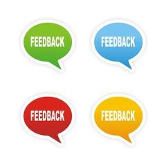 feedback bubble text sticker