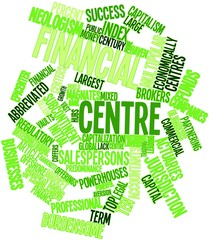Word cloud for Financial centre