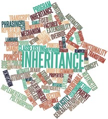 Word cloud for Inheritance