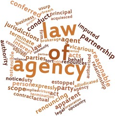 Word cloud for Law of agency