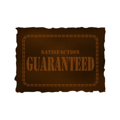 Leather patch - satisfaction guaranteed
