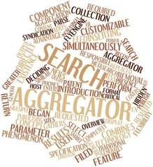 Word cloud for Search aggregator