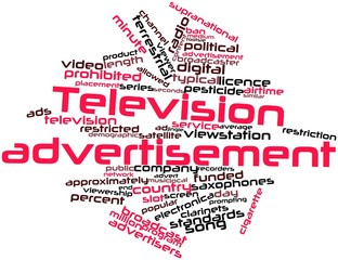 Word cloud for Television advertisement