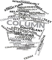 Word cloud for Column