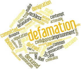 Word cloud for Defamation