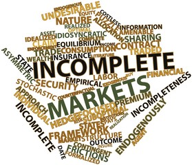 Word cloud for Incomplete markets