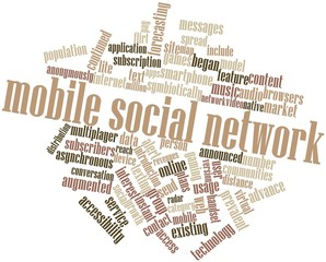 Word cloud for Mobile social network