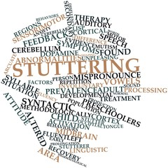 Word cloud for Stuttering