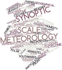 Word cloud for Synoptic scale meteorology