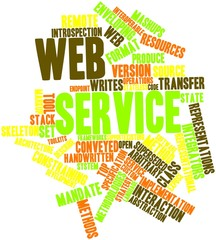 Word cloud for Web service