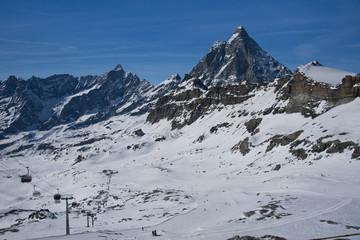 ski slopes under the Matterhorn