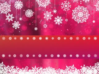 Christmas card with pink snowflake. EPS 8