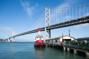 Bay Bridge and pier in San Francisco