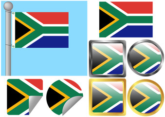 Flag Set South Africa