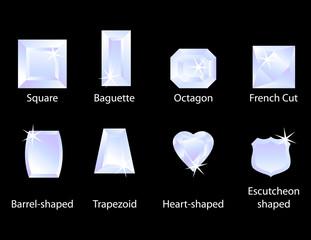 Different Gem Cuts Set 1