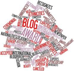 Word cloud for Blog award
