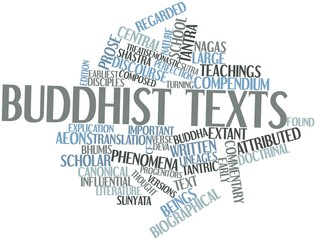 Word cloud for Buddhist texts