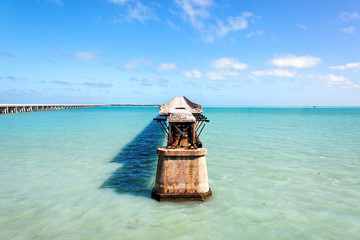 Old Railroad Bridge, Florida Keys, Florida, USA