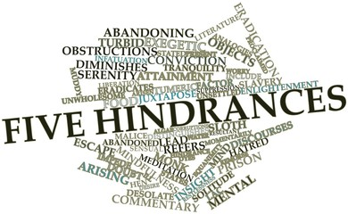 Word cloud for Five hindrances