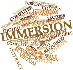 Word cloud for Immersion