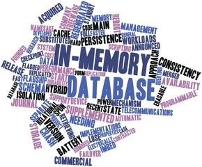 Word cloud for In-memory database