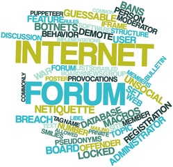 Word cloud for Internet forum