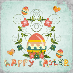 Retro Design of Easter Card