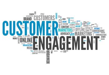 "Word Cloud ""Customer Engagement"""