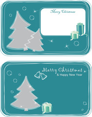 greeting cards with Christmas trees