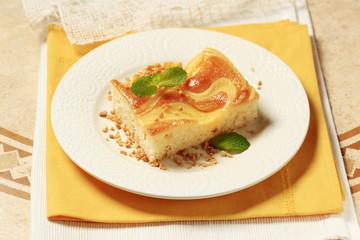 Cream cheese sponge cake