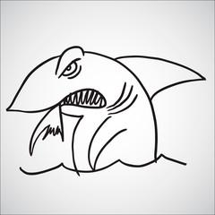 Doodle Sketchy shark